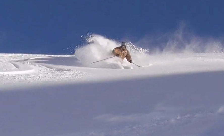 Esquiando polvo en Cervinia en 2010