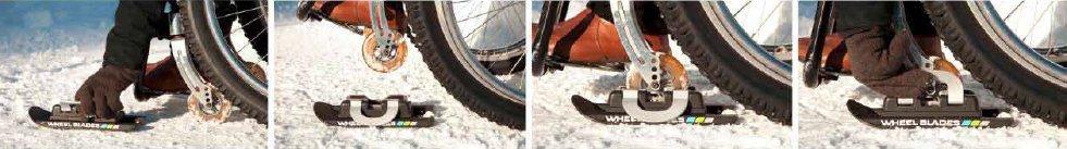 Fotografía del montaje de los Wheelblades.