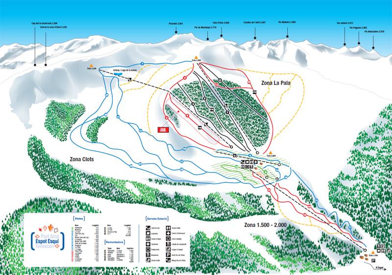 Mapa delas pistas Spot Esquí