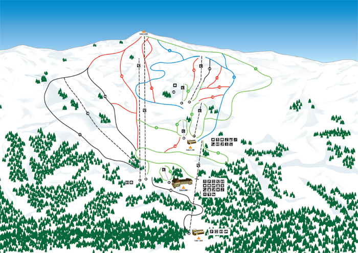 Mapa delas pistas Port Ainé