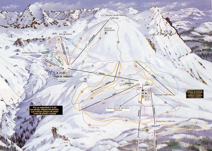 Mapa delas pistas Panticosa