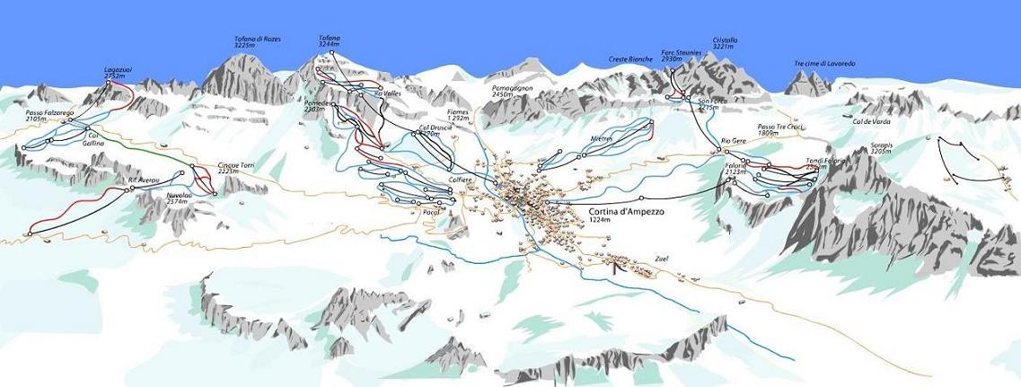 Plano de Cortina d Ampezzo