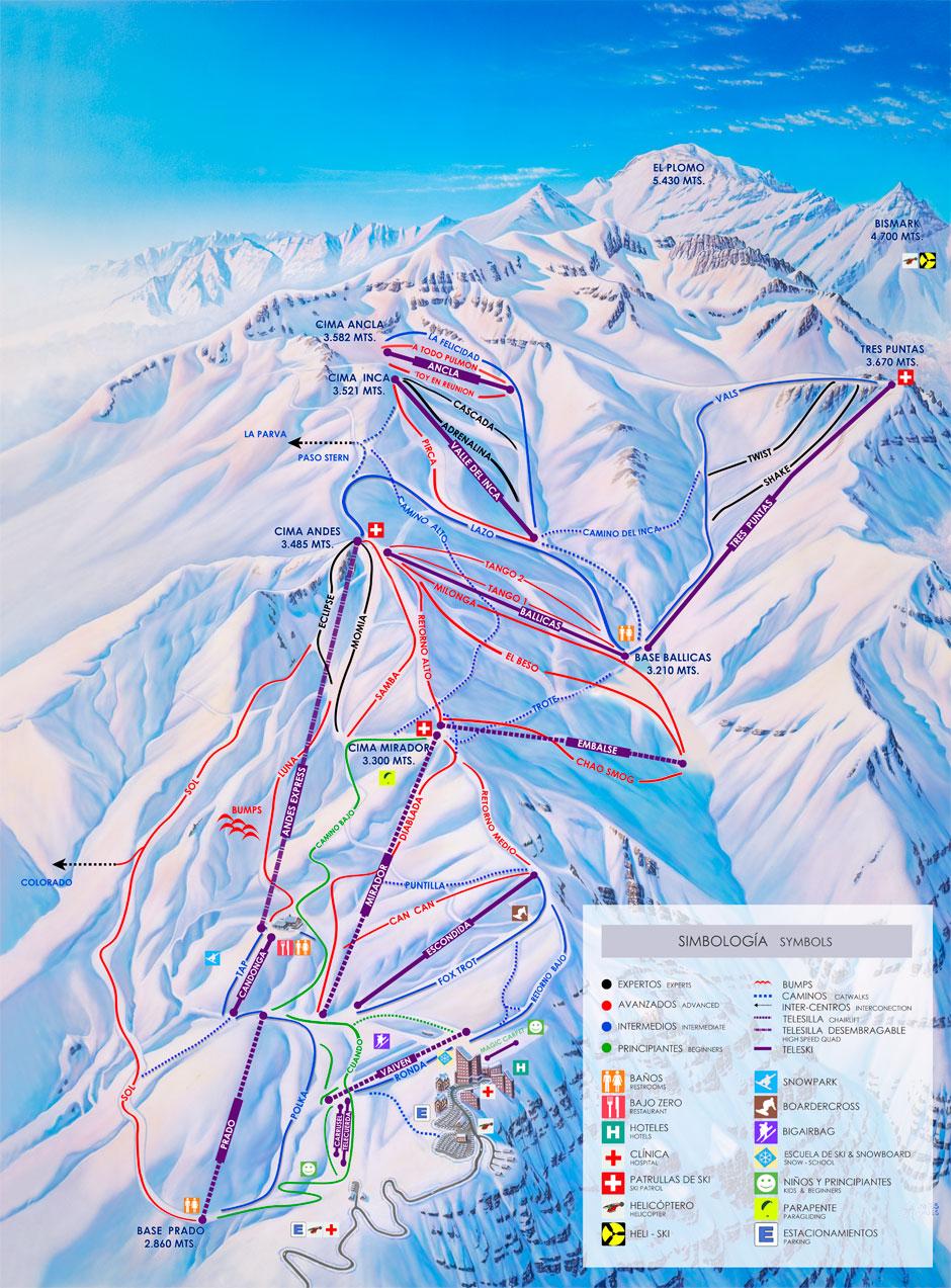 Plano de Valle Nevado