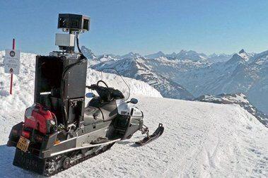 La moto de Google fotografía Candanchú