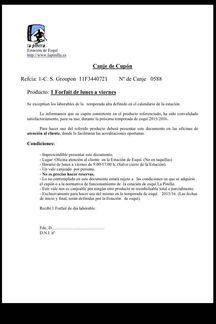 Carta Groupon La Pinilla