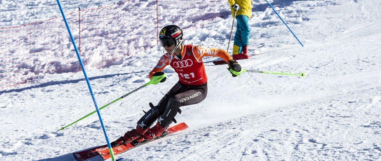 Aragoneses y catalanes copan los podios de la Copa de España de esquí alpino de base