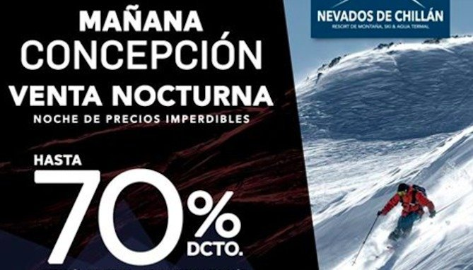 Venta Nocturna de Nevados de Chillán llega a Concepción