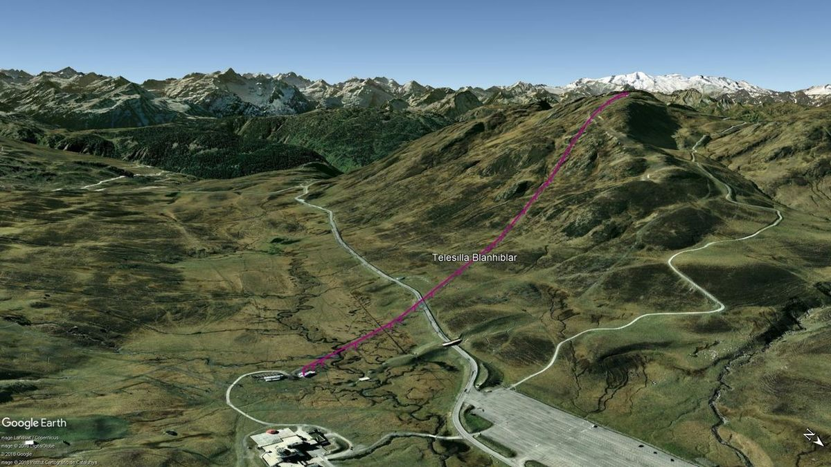 Vista Google Earth Baqueira Beret Verano 2018