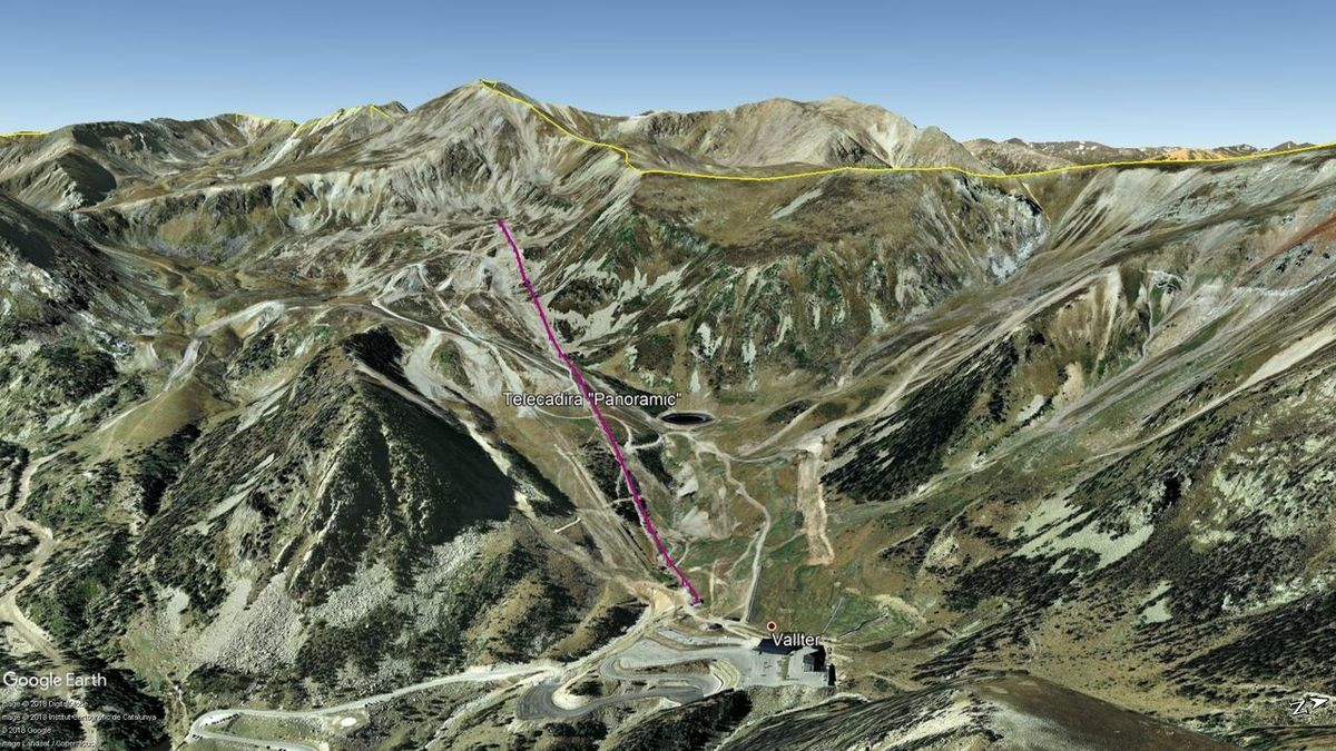 Vista Google Earth Vallter Verano 2018