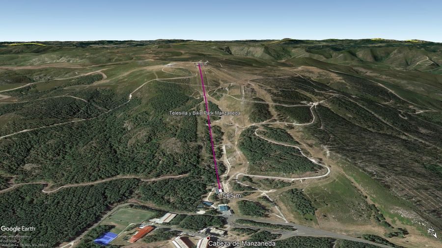 Vista Google Earth Manzaneda Verano 2020