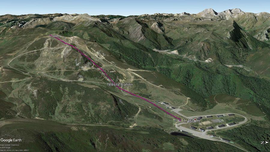 Vista Google Earth Valgrande Pajares Verano 2020