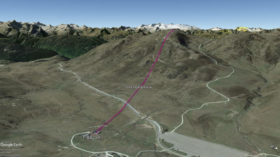 Vista Google Earth Baqueira Beret Verano 2020