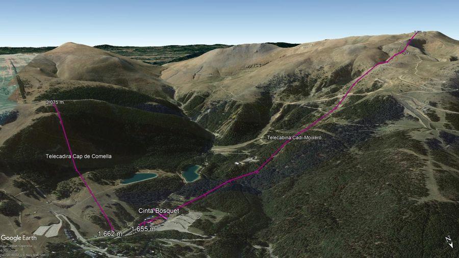 Vista Google Earth La Molina Verano 2020
