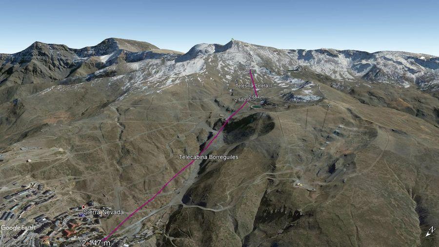 Vista Google Earth Sierra Nevada 2020