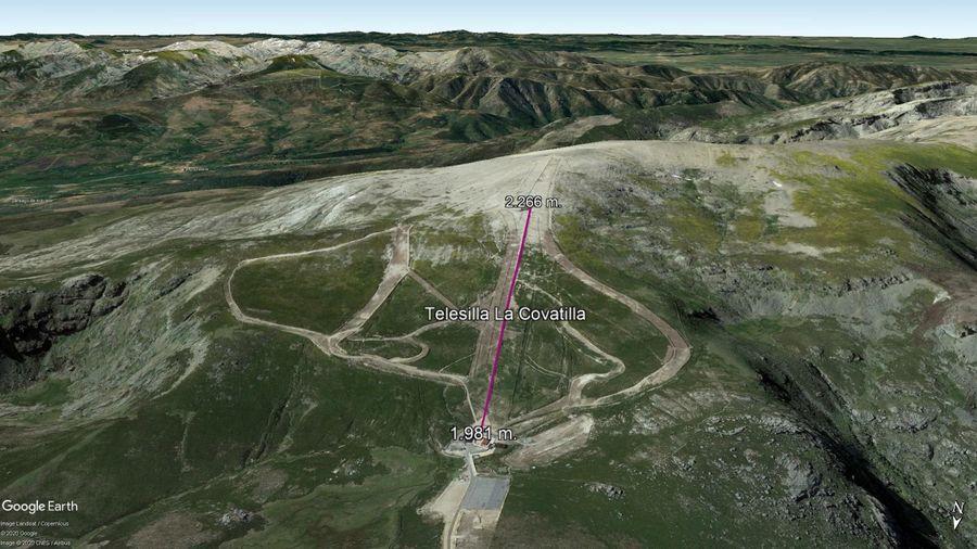 Vista Google Earth Sierra de Bejar - La Covatilla 2020