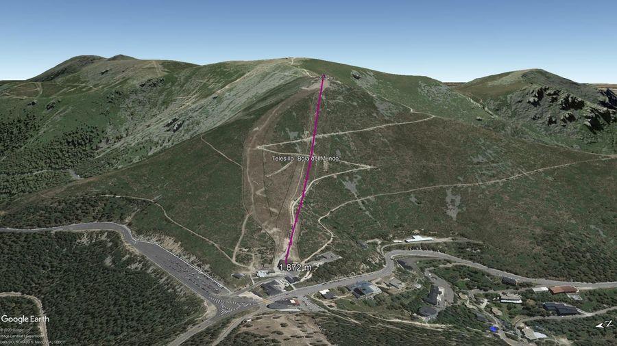 Vista Google Earth Puerto de Navacerrada 2020