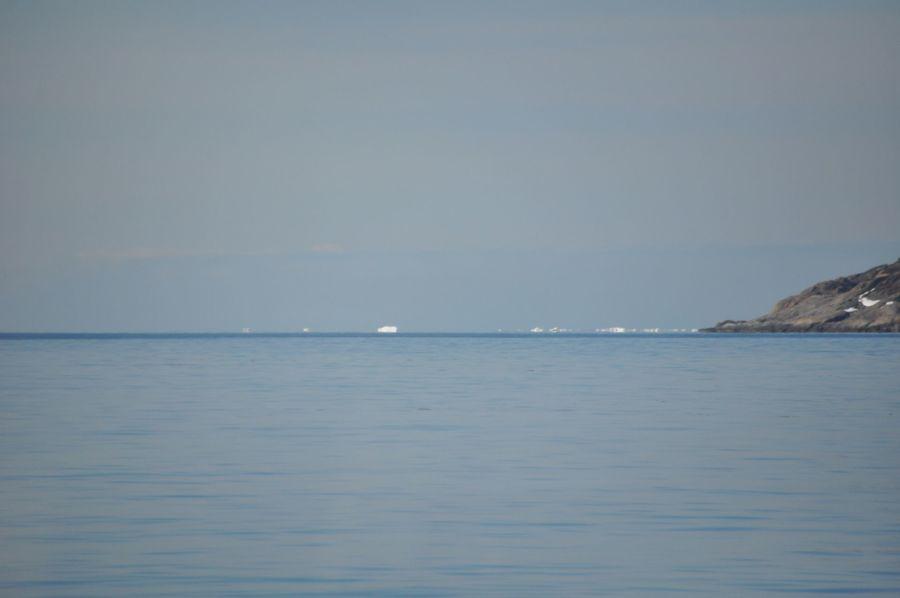 Así se veía desde el mar con el tele de la cámara....
