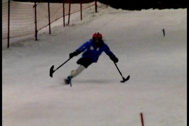 Concentración del Equipo Nacional de Esquí Adaptado en Madrid.