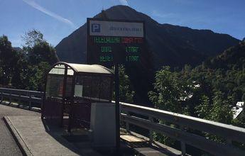 Baqueira Beret tiene nuevo panel informativo de sus aparcamientos
