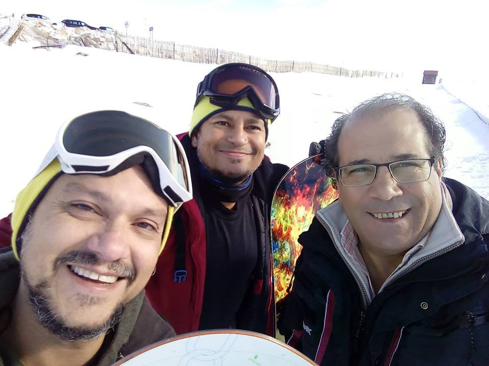 Dos snowboarders Serra da Estrela