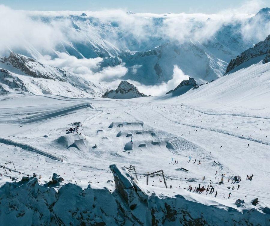 Glaciar en Austria para esqui