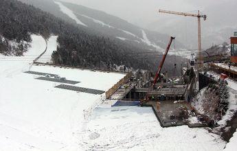 Todo preparado para esquiar sobre la nueva plataforma de Soldeu