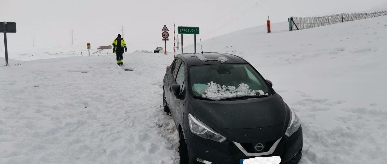 Se saltan el confinamiento y se quedan atrapados en la nieve de Coll de Pal