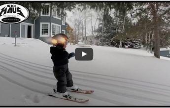Esquiar con solo dos años