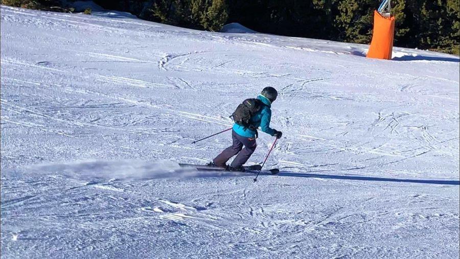 Txell esquiando