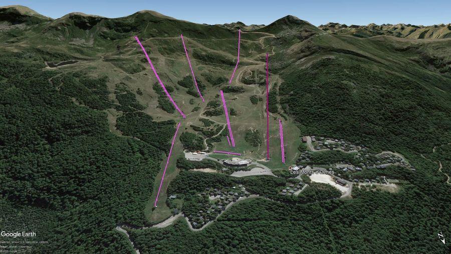 Vista Google Earth Pro Monts d'Olmes Temporada 2020/21