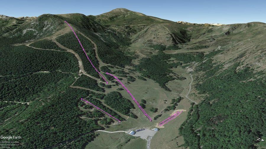 Vista Google Earth Pro Mijanes-Donezan Temporada 2020/21
