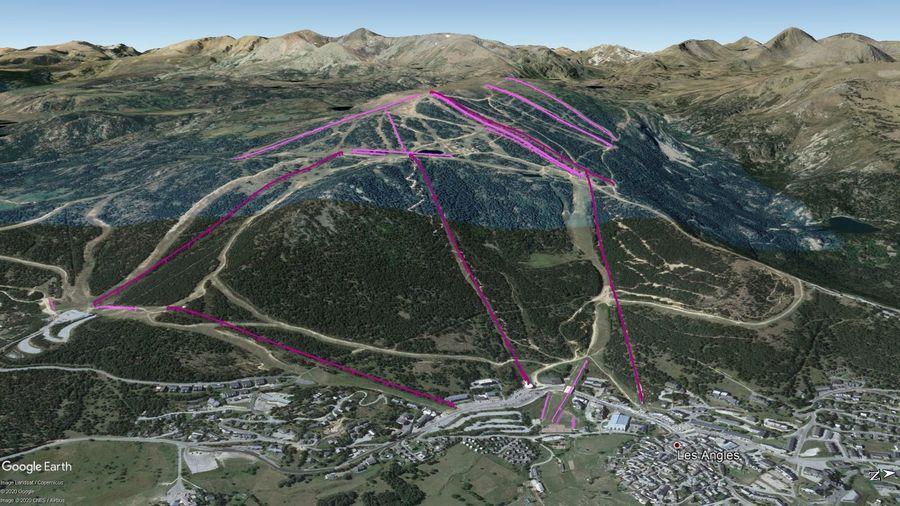 Vista Google Earth Pro Les Angles Temporada 2020/21
