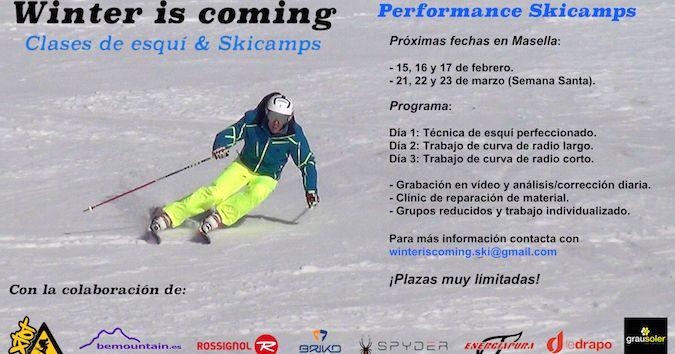Winter is coming: Próximas fechas de Skicamps