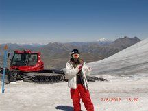 Snowboard de verano en el Snowpark Les2Alpes3600.  Agosto 2012.