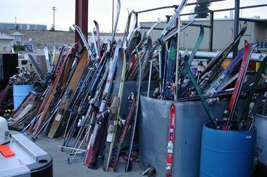 ¿Molestan los esquís?