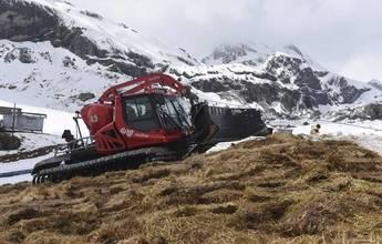 Candanchú introduce el 'snowfarming' en España