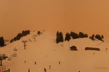La nevada con polvo del Sáhara podría provocar avalanchas de nieve