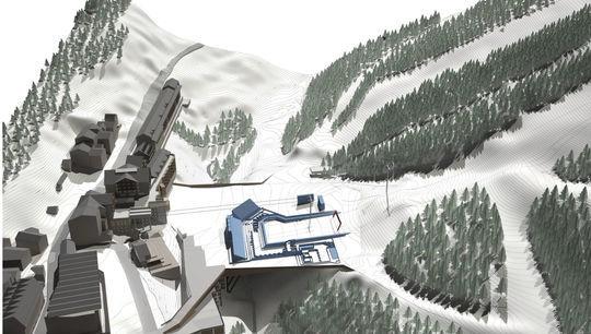 Recreacion de la plataforma esquiable de Soldeu