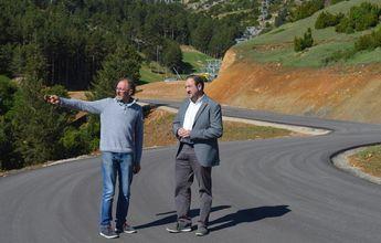Comienzan las obras del nuevo acceso a las pistas de Valdelinares