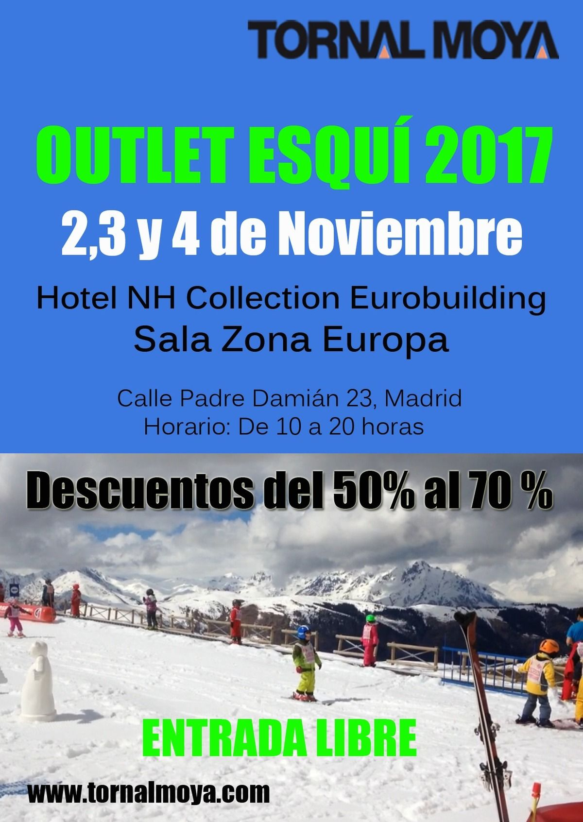 Outlet de esquí Tornal Moya Madrid 2017