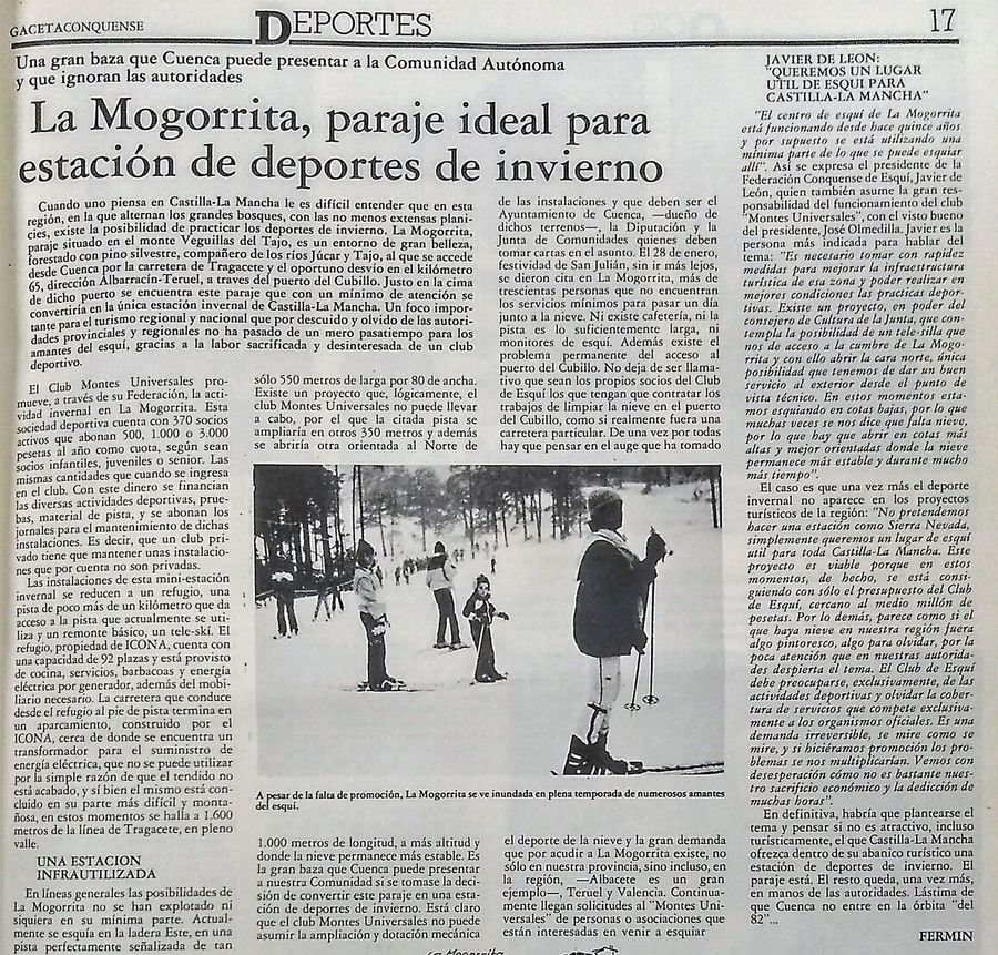 Gaceta Conquense. Febrero 1989.