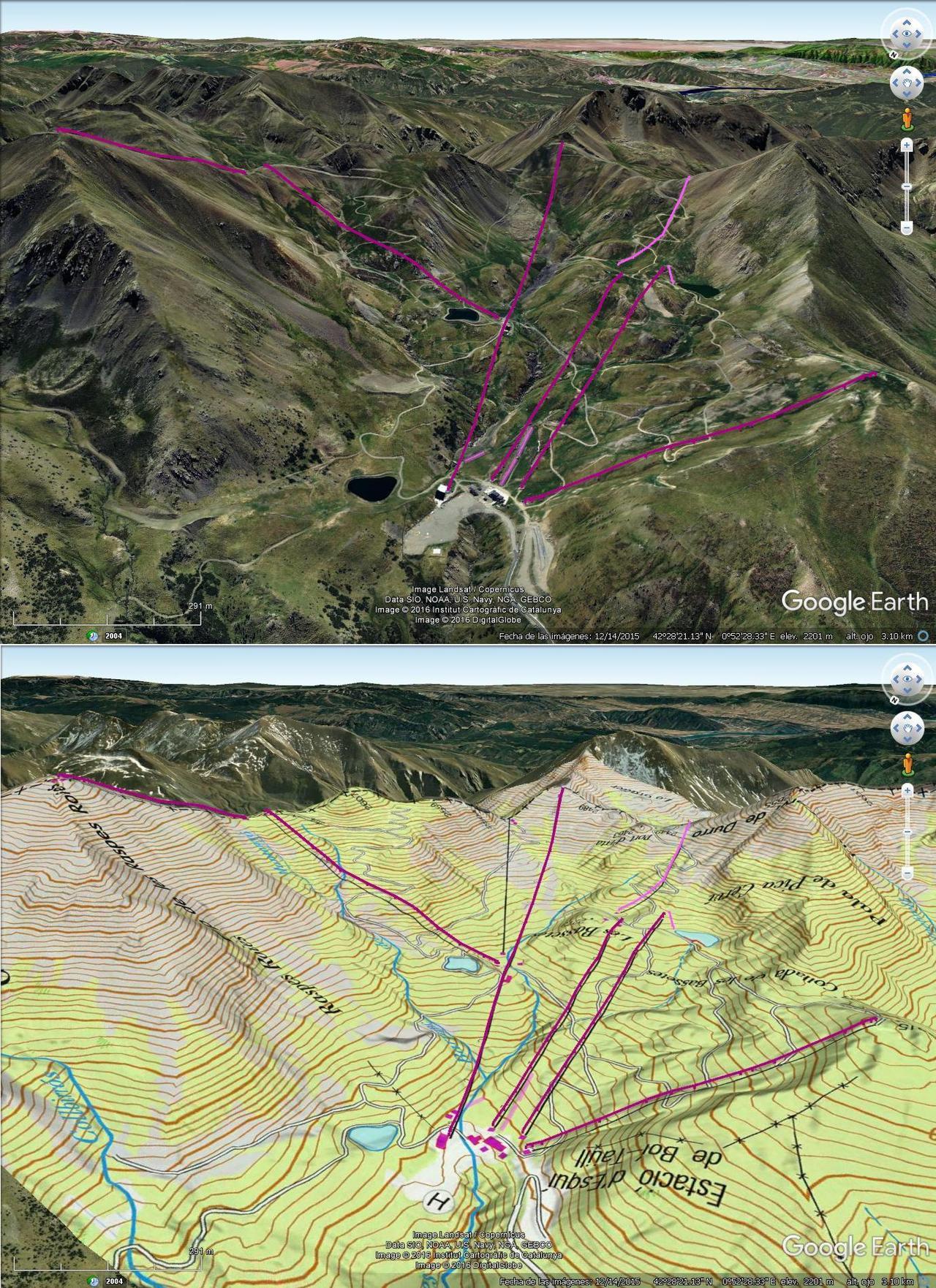Vistas Google Earth Boi Taüll 2016-17