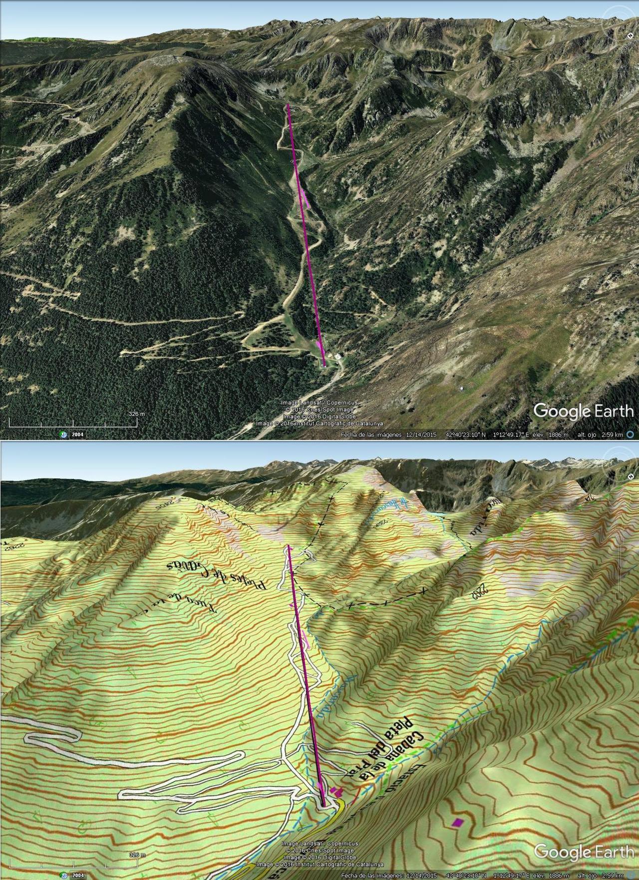 Vistas Google Earth Tavascàn 2016-17