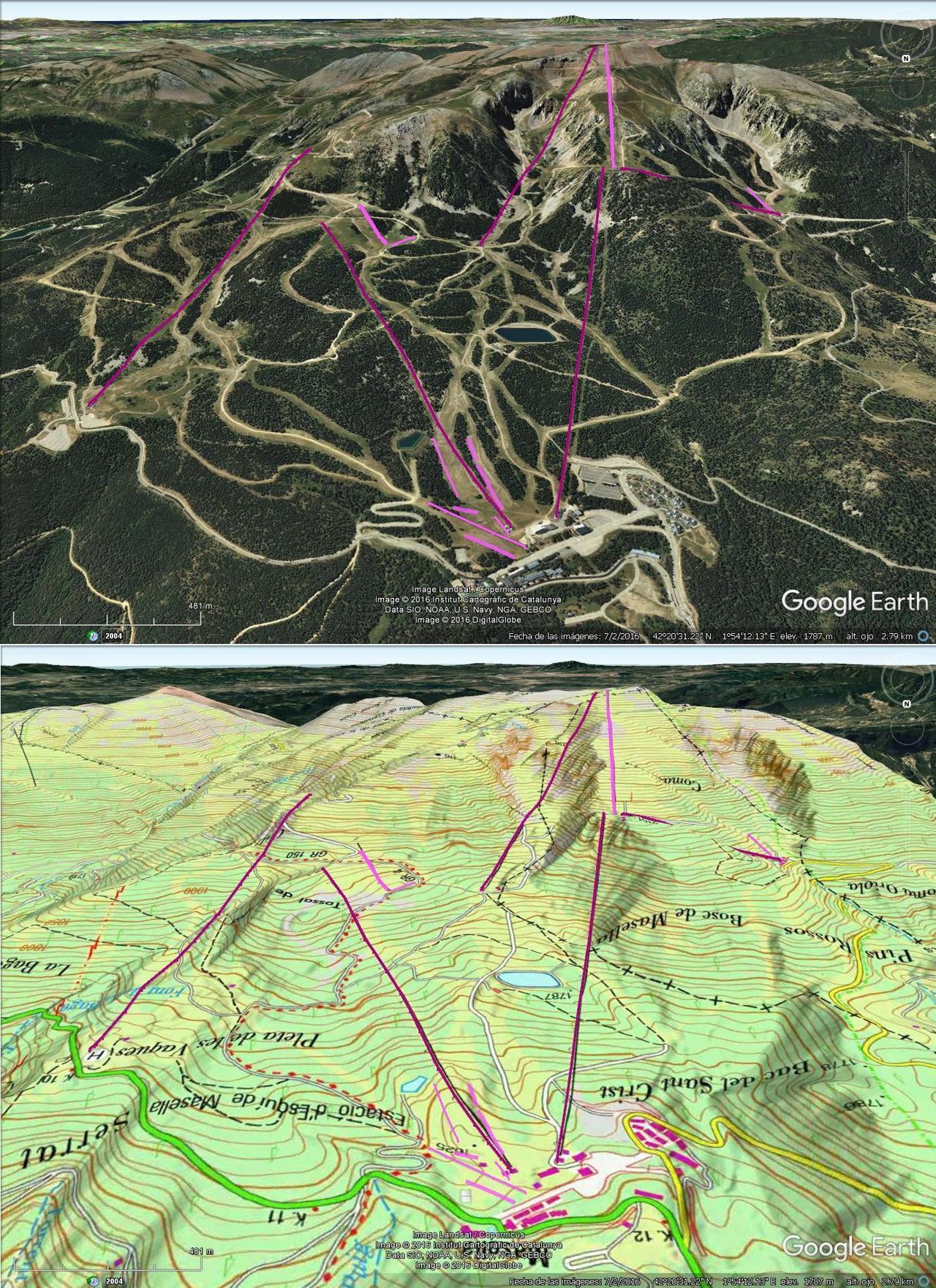 Vistas Google Earth Masella 2016-17