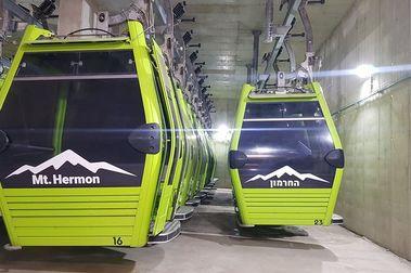 El telecabina Aramón de Zaragoza se estrena en Mt. Hermon Ski de Israel