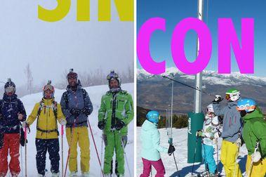 ¿Es mejor que tu pareja esquíe o no?