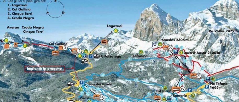Cortina d'Ampezzo aprueba el primer paso para crear una gigantesca área esquiable