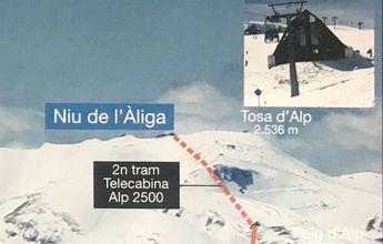Nuevo telesilla en La Molina y segunda fase del telecabina Alp 2500
