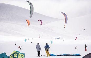 Todo un éxito la competencia Snowkite Fest Corralco