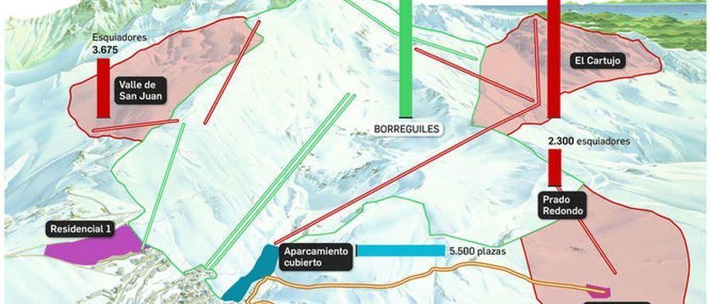 4 empresas optan a la ampliación de la estación de esquí de Sierra Nevada